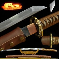 98 Type Officer's Sword Multiple-refined Pattern Steel Blade Clay Tempered 516