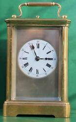 Antique French 8 Day Repeater With Silvered Mask Dial Carriage Clock