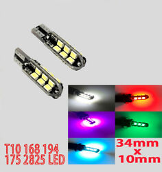 T10 W5W 168 192 2825 Wedge 3014 24 LED Interior Out Door Parking Side Light B1 B