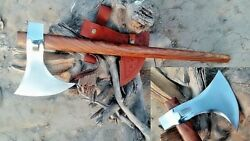 Mdm Custom Real Hand Forged Vintage Tomahawk Viking Combat Hatched Comping Tool
