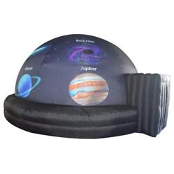 Mobile Inflatable Planetarium Dome Tent School Video Screen With Planet Printing