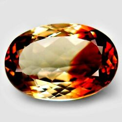 16.85 Ct Rare Top Fire 100 Natural Unheated Imperial Topaz Brazil Aaaa