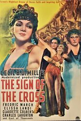 Sign Of The Cross 1932 Original Vintage Lithograph 1sheet Movie Poster Demille
