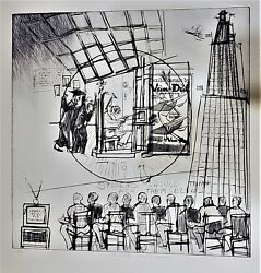 Warrington Colescott Drypoint Art And Education Soft-ground Etching Pencil Signed