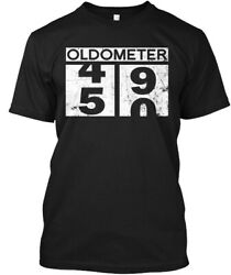 Off-the-rack Oldometer 50th Birthday Gift Funny - 49 Hanes Tagless Tee T-Shirt $18.99