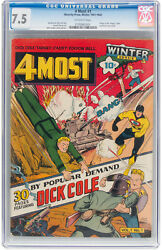 4most 1 Cgc 7.5 Novelty Press 1941-1942 Wwi Golden Age Key 4 Most H12 181 Cm