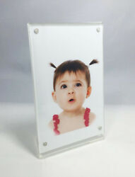 Countertop Clear Acrylic Picture Photo Poster Frame Sign Menu Price Display