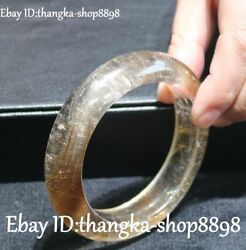 3'' Real Natural Crystal Hand Carving Bracelet Bangle Wristlet Jewelry Statue