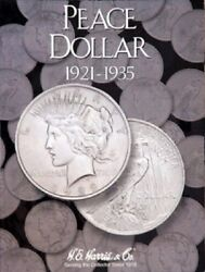 2 Harris Coin Folder 2709 Collection For Peace Dollars 1921-1935 Storage Display
