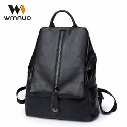 RARE Women Backpack Cow Leather For Girls School Bags Fashion Shoulder Bag