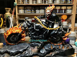 1/10 Ghost Rider Model Resin Figurine Painted Statue Collection In Stock 19cmh