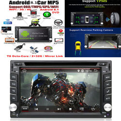 New Android 8.1 Double Din 1080P Touch Screen 2G RAM +32G ROM Car Stereo Radio