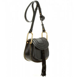 AUTHENTIC Chloe Hudson MINI Calfskin Leather Crossbody Shoulder Bag Black $1890