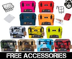 20qt New Rugged+ Cold Bastard Premium Ice Chest Cooler 11 Colors Free Gifts Accs