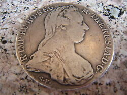 Austria 1780 Maria Theresa And Double Headed Eagle Sterling Silver Coin C.