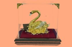 24K Gold Plated SWAN Ornament Made with Genuine STRASS Swarovski Crystal Gift