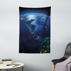 World Tapestry Central America Countries Print Wall Hanging Decor