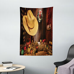 Western Tapestry Farmhouse Christmas Print Wall Hanging Decor