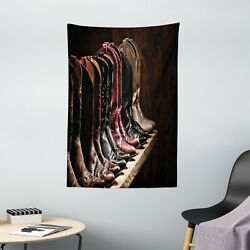 Western Tapestry Cowgirl Fancy Rodeo Print Wall Hanging Decor