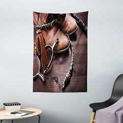 Western Tapestry Rustic Rodeo Cowboy Print Wall Hanging Decor