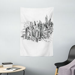 Western Tapestry NYC Historical Sketch Print Wall Hanging Decor