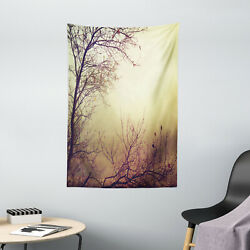 Nature Tapestry Vintage Leafless Autumn Print Wall Hanging Decor