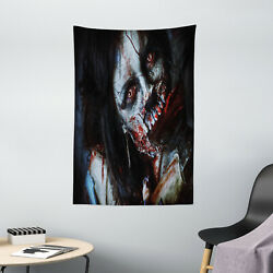 Zombie Tapestry Bloody Axe Woman Print Wall Hanging Decor