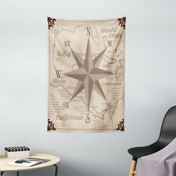 Compass Tapestry Central America Map Print Wall Hanging Decor