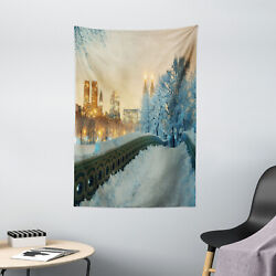 Winter Tapestry Central Park New York Print Wall Hanging Decor