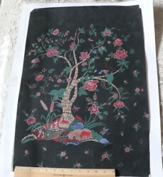 Antique French C1920 Hand Painted Tree Of Life Indienne Artworkl-24 X W-16