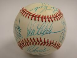 1990 Seattle Mariners Team Signed Baseball Early Griffey Beckett Certified Auto