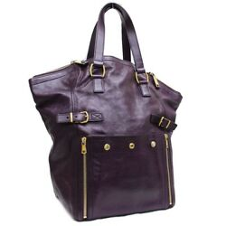 YVES SAINT LAURENT 175883 Downtown A shawl Tote BagShoulder Bag leather Women