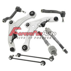 Lower Control Arm w Ball Joint All (4) Inner and Outer Tie Rod Ends for Altima
