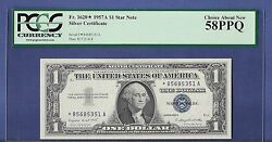 1957a 1 One Dollar Star Silver Certificate Pcgs 58 Choice About New Ppq