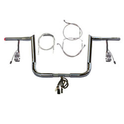 1 1/4 Chrome 12 Hooked Prewired Bar Kit 2008-2013 Harley Electra Glide No Abs