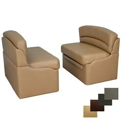 Rv Recpro 44 Toffee Dinette Booth Seats With Storage Converts To Bed Camper