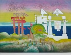 Roberto Matta 8 Pm Land039arc Obscure Des Heures Etching/aquatint Hand Signed Obscur