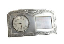 The Mcchesney And Co Sterling Silver Perpetual Clock And Calendar Circa 1920