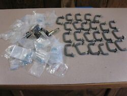 Lot Of 23 Kitchen Cabinet Pull Drawer / Door Handles And Hinges And Screws