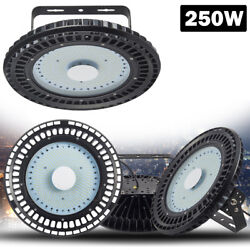 250W UFO LED High Bay Light Industrial Factory Warehouse Roof Shed Lamp 110V