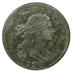 1798 S-155 R-3 Rev Of And03996 Draped Bust Large Cent Coin 1c