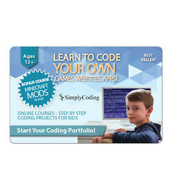 Simply Coding - Learn To Code Your Own Games Websites Apps Ages 11+ Emailed