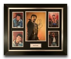 Paul Young Hand Signed Framed Photo Display Music Memorabilia.