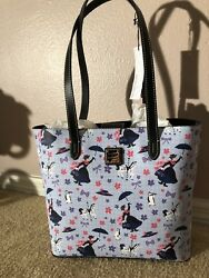NWT Disney Parks Dooney And Bourke Mary Poppins Tote Shopper Purse Bag