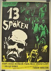13 GHOSTS WILLIAM CASTLE CHARLES HERBERT JO MORROW MOVIE POSTER