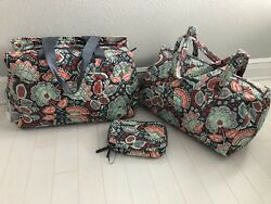 VERA BRADLEY NOMADIC FLORAL TRIPLE COMPARTMENT TRAVEL BAG SMALL DUFFEL COSMETIC