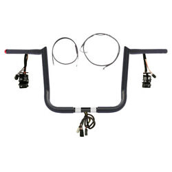 1 1/4 Bblack 14 Hooked Prewired Bar Kit 2008-2013 Harley Electra Glide W/abs