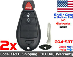 2x New Replacement Keyless Entry Remote Key Fob Case For Dodge Ram Jeep - Shell