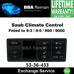 Saab Climate Control Temperature AC Heater Exchange Service 5336433