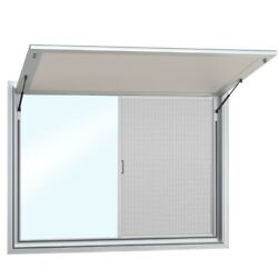 Concession Stand Food Truck Trailer Serving Window With Awning Cover - 2 Window